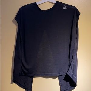 Reebok Black Open Back T Shirt